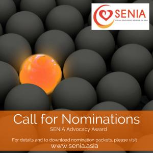 SENIA Advocacy Award Social Media Creative